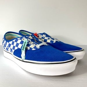 Vans Comfycush Authentic Checker Lapis Blue Shoes
